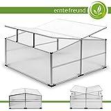 Frühbeet - Aluminium Rahmen und WÄnde aus Polycarbonat - 1,00m² 110x110cm I UV Schutz I lichtdurchlässig I rostfrei